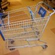 grocery cart with blue / mytvdinner